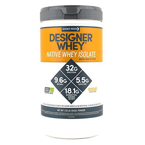 Designer Whey Native Whey Isolate, Chocolate Milkshake, 1.85 Pound, Protein Powder