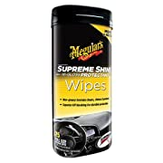 MEGUIAR'S G4000-6PK Supreme Shine Hi-Gloss Protectant Wipe, (Case of 6)