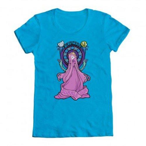 Adventure Time Princess Bubblegum Nouveau Shirt, Blue (L)