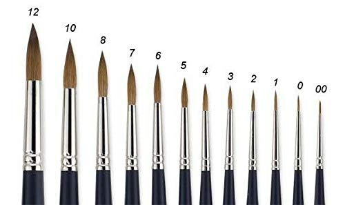 Brushes and Painting Tools - Series 7 Round Brush #4 Nib - Amateur and Professional Painters