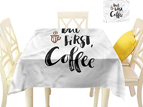 Regency Maple Desk - WilliamsDecor Printed Tablecloth Coffee,Brush Style Quotation Dining Table Cover W 50