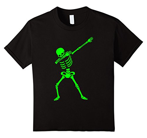 Halloween Kids Shirts (Kids Dabbing Skeleton Shirt - Halloween T-Shirt Human Skeleton 8 Black)