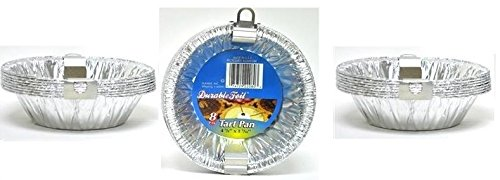 24pk 4 3/8'' Aluminum Foil Tart Pans Disposable Mini Pot Pie Baking Plate Tins by Generic