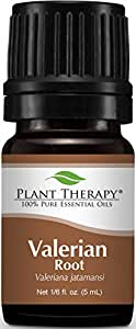 Plant Therapy Valerian Root Essential Oil. 100% Pure, Undiluted, Therapeutic Grade. 5 mL (1/6 Ounce).