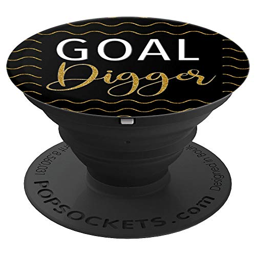 Gold Wave Design Goal Digger For Mom Girl Boss - PopSockets Grip and Stand for Phones and ()