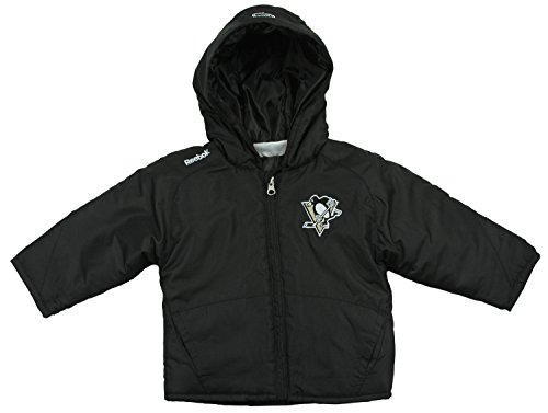(Reebok NHL Pittsburgh Penguins Little Boys 2T-4T Toddler Midweight TNT Jacket - Black)