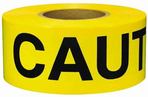 Yellow Caution Barricade Tape 3'' X 1000 ft • Bright Yellow with a Bold Black Print for High Visibility • 3'' wide for Maximum Readability • Tear Resistant Design • Caution Tape.