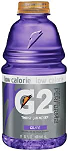 Gatorade G2 Sports Drink, Grape, Low Calorie, 32-Ounce Bottles (Pack of 12)