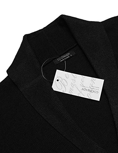 COOFANDY Men's Long Sleeve Shawl Collar Cardigan Sweater Slim Fit Casual Button Down Knitted Cardigan Overcoat by COOFANDY (Image #4)