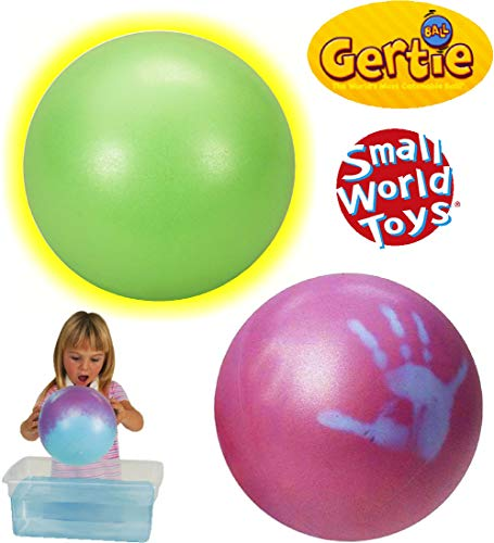 Gertie Ball - Small World Toys Gertie Balls Glow in The Dark & Magic Gertie Ball Gift Set Bundle - 2 Pack