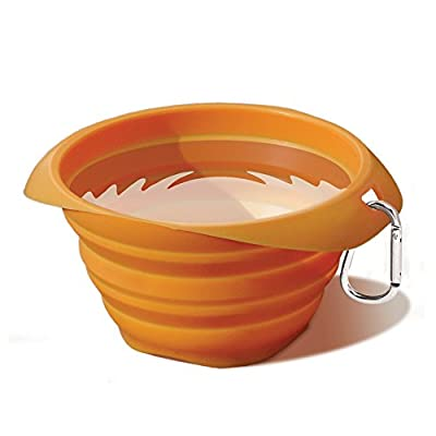 Kurgo 98 Collapsible and Portable Travel Dog Bowl for Food and Water with Carabiner