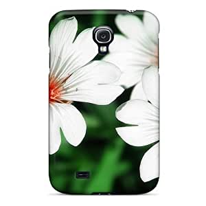 Excellent Galaxy S4 Case PC Cover Back Skin Protector Flowers_beds