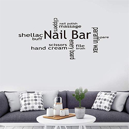 Iunant Wall Sticker Quotes Decals Decor Vinyl Art Stickers Shellac Nail Bar File Paraffin Wax Emery Board for Living Room Bedroom Book Room