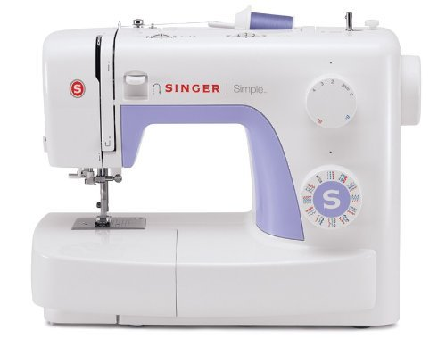 SINGER |Simple 3232 Portable Sewing Machine with 32 Built-In Stitches Including 19 Decorative Stitches, Automatic Needle Threader Free Arm, Best Sewing Machine for Beginners (Renewed)