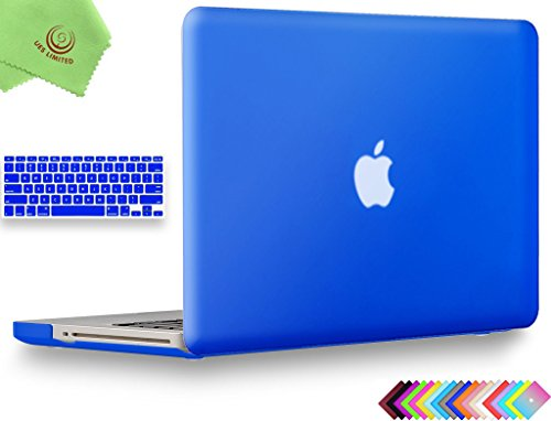 - UESWILL 2 in 1 Smooth Soft Touch Matte Frosted Hard Shell Case with Silicone Keyboard Cover for MacBook Pro 15 inch with CD-ROM (No Retina) Model A1286 + Microfibre Cleaning Cloth, Royal Blue