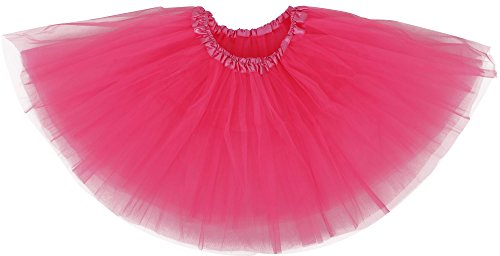 [Women's Costume Ballet Warrior 5K, 10K Fun Dash Run Adult Tutu,Hot Pink] (Dance Costumes For Adults)