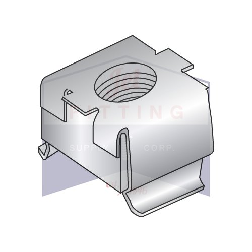 D07957-5618 Cage Nuts | Free Floating Square Nut within a Spring Steel Cage | Square Nut: Class 304 J3 Stainless Steel | Cage: Class 304 3/4-Hard Stainless Steel | C7941SS-1024-2 (QUANTITY: 500) by Jet Fitting & Supply Corp