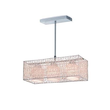 CristalRecord Lámpara de Techo con Altura Regulable, E27, Crema, 78 x 50 cm