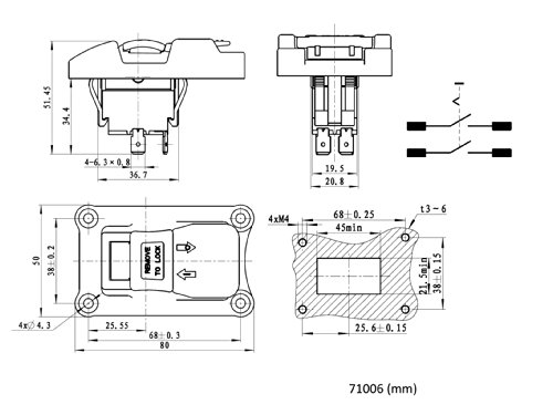 Powertec 71007 110  220v Paddle Switch