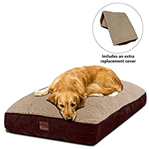 Floppy Dawg Large Dog Bed with Removable Cover, Waterproof Liner, and Extra Bed Cover. Made for Dogs up to 90 pounds… Click on image for further info.