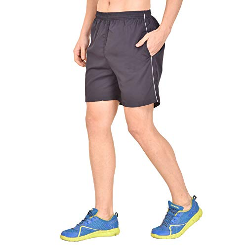 Gag Men's White Dark Blue 100% Micro Polyester Sports Shorts