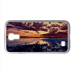 Amazing Dusk Watercolor style Cover Samsung Galaxy S4 I9500 Case (Lakes Watercolor style Cover Samsung Galaxy S4 I9500 Case) by icecream design