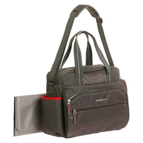 Diaper Bag Eddie Bauer P & S Black / Red