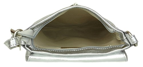 Silver Renata Girly Handbags Metallic Bolso Mujer Bandolera wCwRv1xFSq