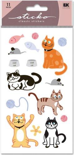 Sticko Classic Stickers, Cat Glitter