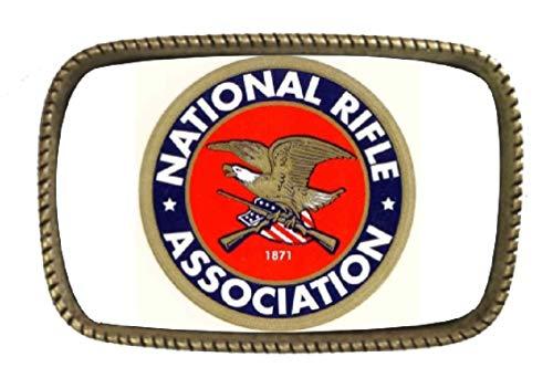 (Nra Brass Belt Buckle Made In USA)