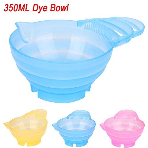 350ml Bowl - Alonea Hair Color Bowl, Plastic Dyeing Bowl Assorted Salon Dye Seasoning Bowl Colors Random (350ML)