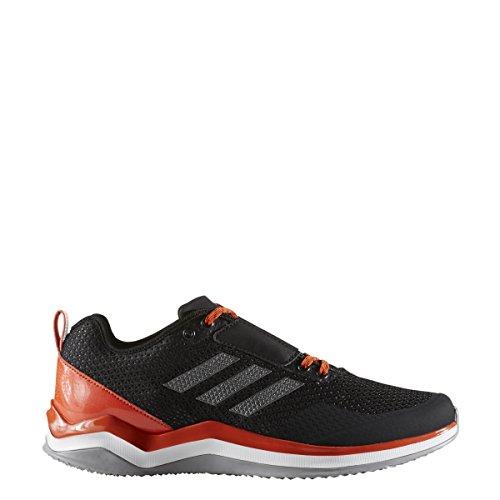 adidas Men's Speed 3.0 Cross Trainer, Black/Iron/Collegiate Orange, (10 M US)