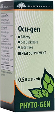 Genestra Brands – Ocu-gen – Bilberry, Sea Buckthorn, and Judas Tree Herbal Supplement – 0.5 fl oz (15 ml)