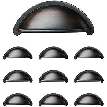 bronze cabinet pulls. Oil Rubbed Bronze Kitchen Cabinet Pulls - 3 Inch Bin Cup Drawer Handles 10 Pack Z