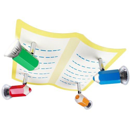 Infantastic Bleistift Kinderlampe (Bunt) Deckenlampe für Kinderzimmer, ca. 30 x 29 x 13 cm