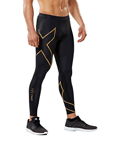 2XU Men's MCS Run Compression Tights, Black/Gold, Medium by 2XU (Image #4)