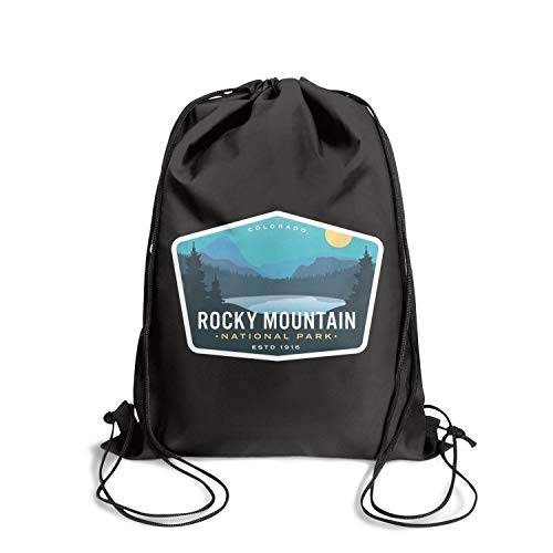 Rocky Mountain National Park Unisex Drawstring Tote Spacious Waterproof Sports Sports Backpack