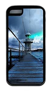iPhone 5C Case,Sydney Lighthouse View Custom TPU Soft Case Cover Protector for iPhone 5C Black