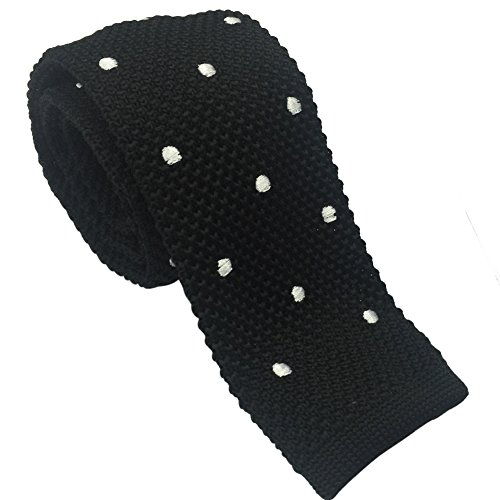 Various Colors Black Ainow Smart Casual Mens 2 Skinny Knit Tie Necktie
