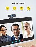 RALENO 1080P Webcam, Dual Built-in