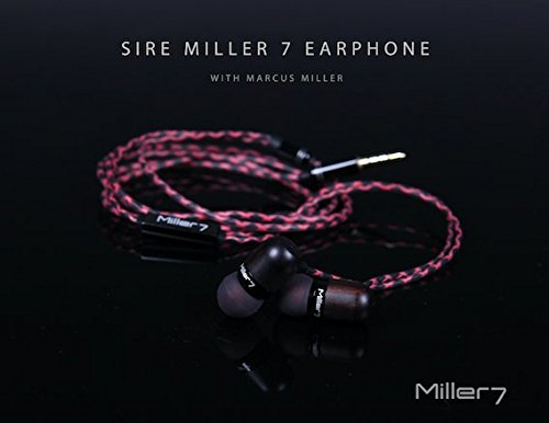 Grammy-Winning Musician Marcus Miller Signature SIRE MILLER 7 Wood In-ear Ear buds (Headphones/Earphones) with Mic, Remote Button and Exclusive Carry Case by SIRE