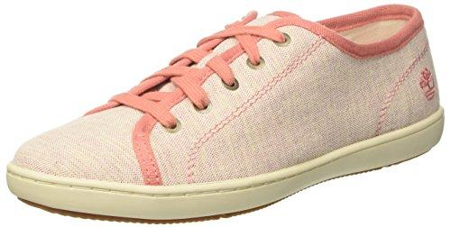 Timberland Mayport, Zapatillas sin Cordones para Mujer, Rosa (Crabapple Canvas with Natural Tan K41), 38 EU