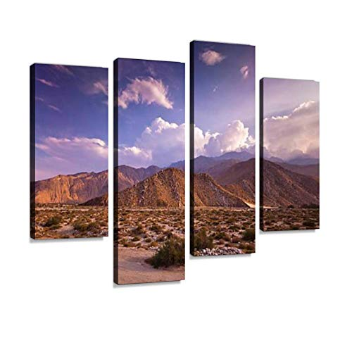 Dramatic Palm Springs Landscape Canvas Wall Art Hanging Paintings Modern Artwork Abstract Picture Prints Home Decoration Gift Unique Designed Framed 4 ()
