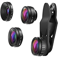 AMIR 3 in 1 Universal HD Camera Lens Kit, 0.65X Super Wide Angle Lens & 15X Macro Lens & 230 Degree Fisheye Lens, Clip on Cell Phone Lens for iPhone 7 Plus/7/6s Plus/6s/Samsung and Smartphones