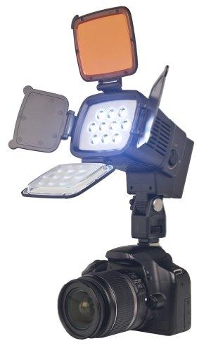 Bower VL17K  High-Intensity 9W DC LED Video Light with Barn Doors (Black)