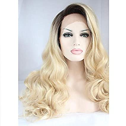 Amazon Wigs Synthetic Lace Front Body Wave Layered Haircut 130