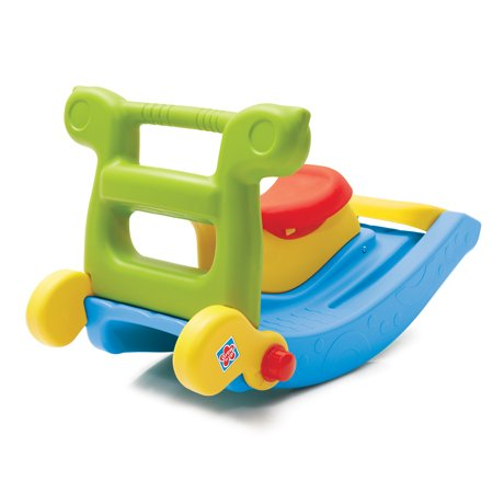 Grow n Up Plastic 2 in-1 Slide to Rocker Multicolour