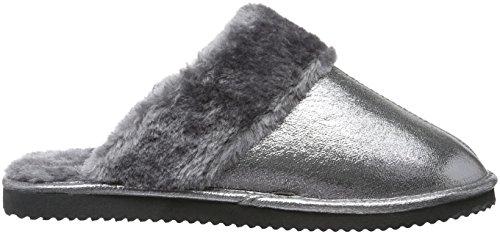 flip*flop Cuddle - Pantuflas cálidas con forro Mujer Plateado - Silber (Silver 907)