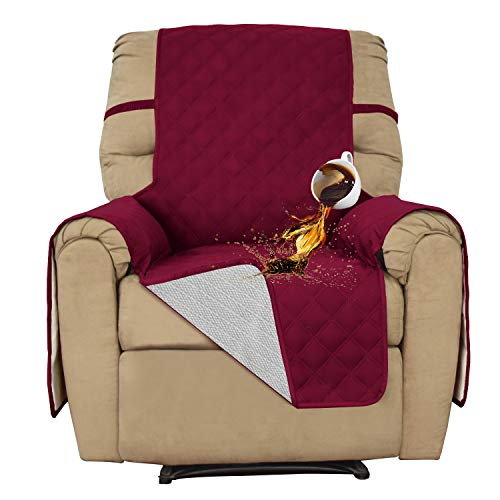 Recliner 100% Waterproof Sofa Slipcover Furniture Protector Sofa Shield Couch Slipcover Pets Covers Whole Fabric No Stitching Slip Resistant Non-slip fabric Pets Kids Children Dog Cat (Recliner, Wine)