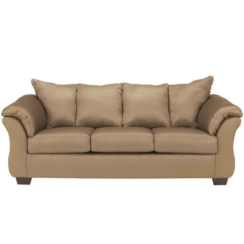 Flash Furniture Signature Design by Ashley Darcy Sofa in Mocha Microfiber - Mocha Microfiber Sofa